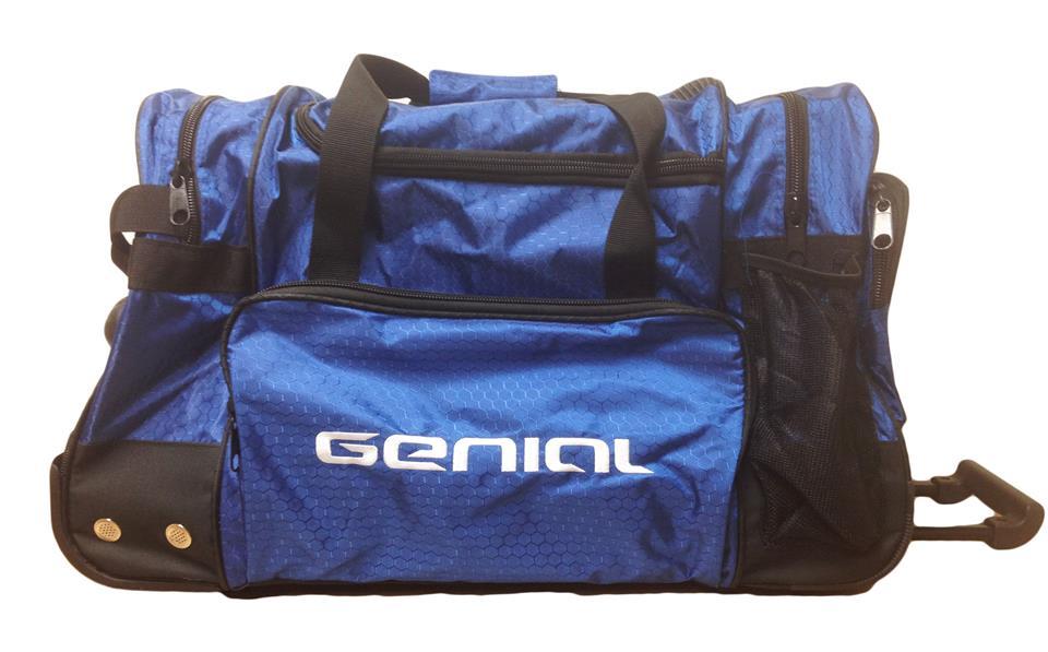 Clyton 3 Compartment Blue Kit Bag