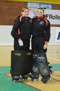 Kasia & Katt in TVD Goalie Pads