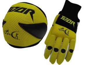 Toor Player Knee Pad & Gloves Set Yellow & Black