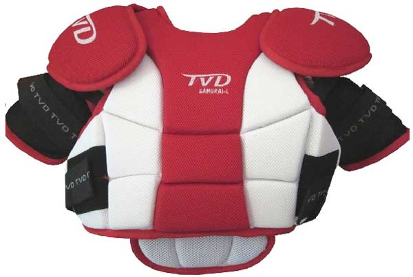 TVD Samurai Chestpad Red & White