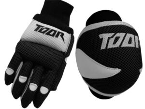 Toor Player Knee Pad & Gloves Set Black & White