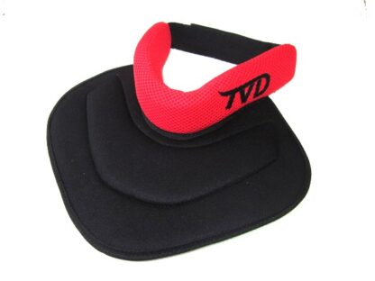 TVD Upper Chest Throat Protector Red